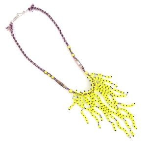 New AUTH Chan Luu Yellow Statement Necklace